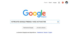 Site en première page Google
